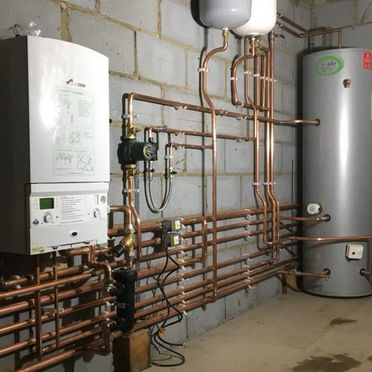 A boiler room that has been worked on by our team
