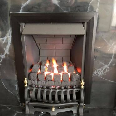 A gas fire that was serviced by our team