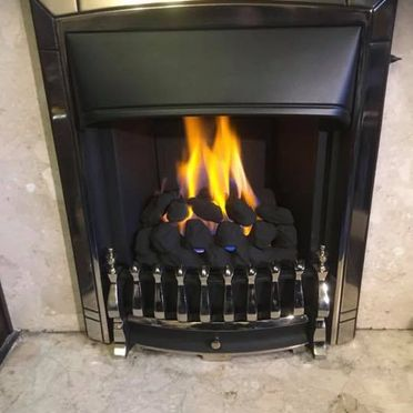 A gas fire that was repaired by our staff