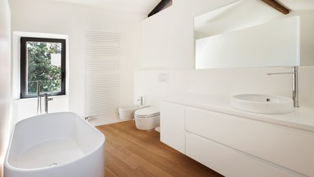 A bathroom that has been installed by our skilled team