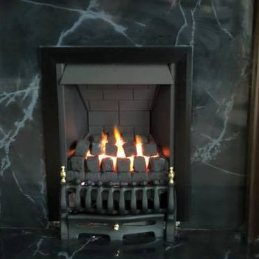 A gas fire that was fitted by our team